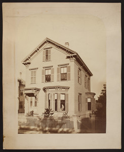 Exterior view of an unidentified house, location unknown, undated
