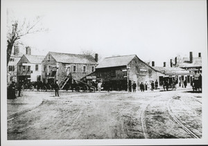 Corner of Warren and Dudley Streets, Roxbury, Mass., 1850-1869