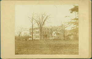 """Exterior view of the James Russell Lowell House, """"Elmwood,"""" Cambridge, Mass., undated"""
