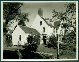Exterior view of James Noyes Farmhouse, rear, Newbury, Mass., undated