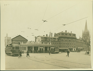 View of Harvard Square, Cambridge, Mass., undated