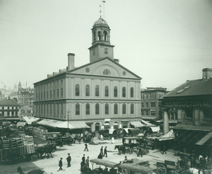 Exterior view of Faneuil Hall, Boston, Mass.