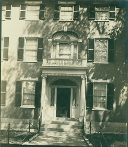 Exterior view of the Emmerton House, front entrance, Salem, Mass., undated