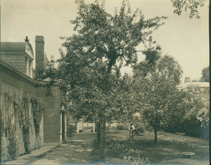 Exterior view of Emmerton House, rear piazza, Salem, Mass., undated