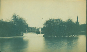 Bridge and lagoon, Public Garden, Boston, Mass., undated