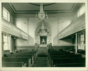 Interior view of the African Meeting House, Boston, Mass., undated