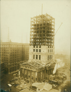Construction of the new Custom House Tower, State Street, Boston, Mass. ca. 1913