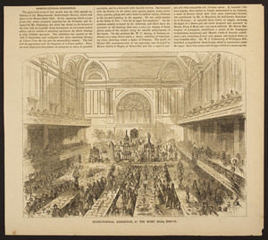 Horticultural Exhibition, at the Music Hall, Boston