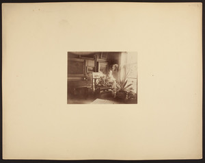 Interior of a room in an unidentified building, undated