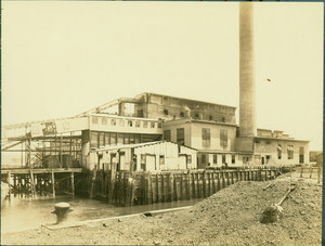 Exterior view of the Boston Buildings Department building, Spectacle Island, Boston Harbor, Mass., June 1, 1922