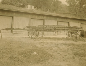 Ladder truck used by the Collins Company, Collinsville, Conn., 1854