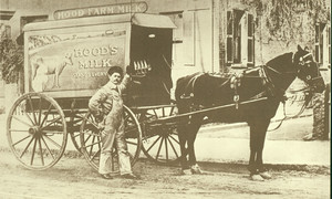 Hood Milk delivery wagon, undated