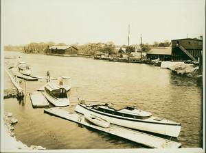 View of a boat landing, Braintree, Mass., undated