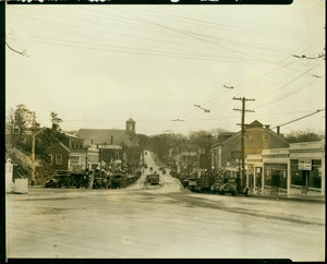 View of Washington Square from Norfolk Square, Weymouth, Mass., undated