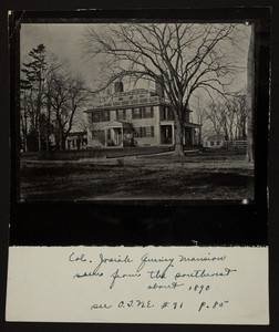 Col. Josiah Quincy Mansion, seen from the southwest, about 1890