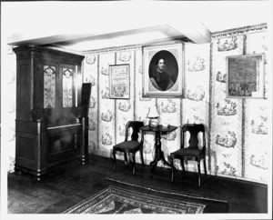 Interior view of the Coffin House, Newbury, Mass., undated