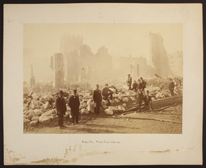 Boston fire, Trinity Church in the rear, 1872