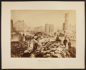 Boston fire, Winthrop Square, 1872