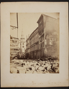 Washington Street looking towards the Old South Meeting House after the Boston Fire, Boston, Mass., 1872