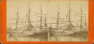 Docks and shipping, from Commercial Wharf, Boston, Mass.