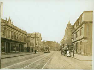 Centre Street business section looking south, Jamaica Plain, Mass., ca. 1912