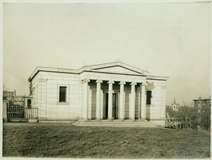 Exterior view of the Granite Lodge, Bunker Hill Monument, Charlestown, Mass.