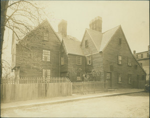 Exterior view of the House of Seven Gables, Salem, Mass., undated