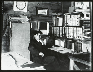 Interior of a construction office, Barris Kenyon Company, Pittsfield, Mass., Feb. 20, 1914