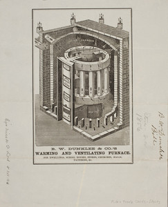 Billhead for B.W. Dunklee & Company, stoves and furnaces, dated March 20, 1856