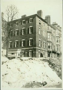 Exterior view of the Nichols and Adams Houses, Boston, Mass., March 1920