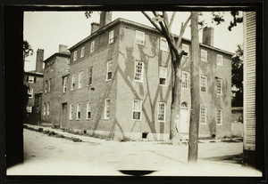 Exterior view of a brick house, Portsmouth N.H., 1914