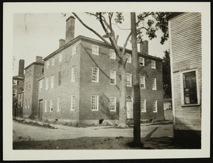 Exterior view of an unidentified building, Portsmouth, N.H., undated