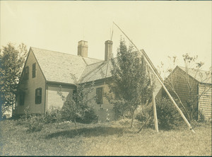 Exterior view of the Old Oaken Bucket House, Scituate, Mass., undated