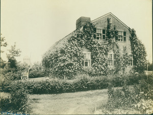 "Exterior view of the Lawson House, ""The Nest"", Scituate, Mass., undated"