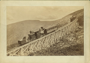 Mount Washington railroad train heading downhill, undated