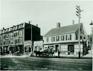 East side of Main St., corner of Mead St., Boston, Mass., 02 March 1900