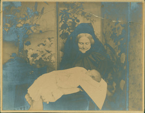 Miss Anna Cabot Lowell and great-nephew, undated