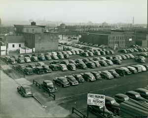 "Parking lot for ""EL"" patrons, Cambridge, Mass., undated"