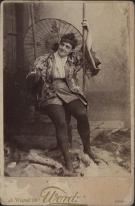 Portrait of a woman on a swing, undated