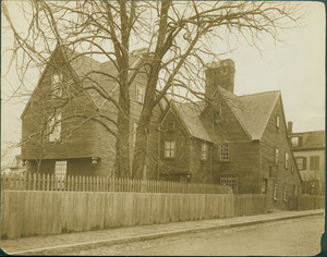 Exterior view of the House of the Seven Gables, Salem, Mass., undated