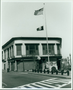 Adams Appliance and Kim Mai Beauty Salon, corner of Adams and Dorchester Ave., Dorchester, Mass., undated