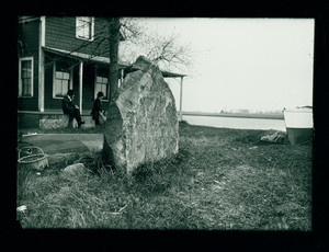"Stone inscribed ""Landing Place of the First Settlers 1635,"" Newbury, Mass., undated"