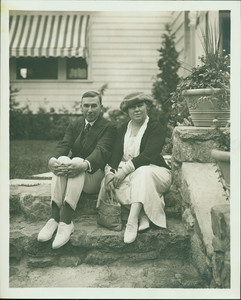 Booth Tarkington and his wife, Kennebunk, Maine, undated