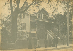 Exterior view of the Leland's House, Roxbury, Mass., undated