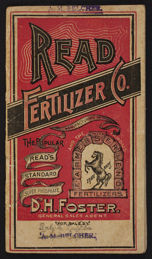 Read Fertilizer Co., phosphate fertilizers, Syracuse, New York, undated