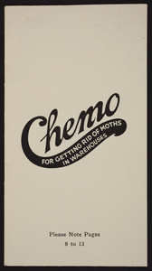 Chemo for getting rid of moths in warehouses, Chemo Company, Buffalo, New York