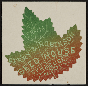 Trade card for Perry & Robinson Seed House, Syracuse, N.Y.