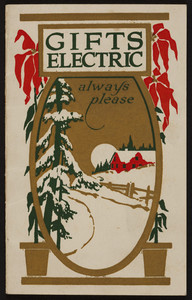 Gifts Electric Always Please, The Northern Conn. Light And Power Company,  15 Central Street, Thompsonville, Connecticut, Undated