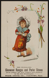 Trade card for Glenwood Ranges and Parlor Stoves, Weir Stove Co., Taunton, Mass., 1887