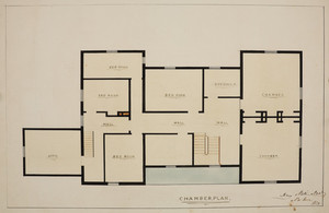 Chamber plan of unidentified house, location unknown, 1850